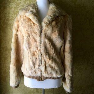 Jackets & Blazers - Vintage Rabbit Fur Coat